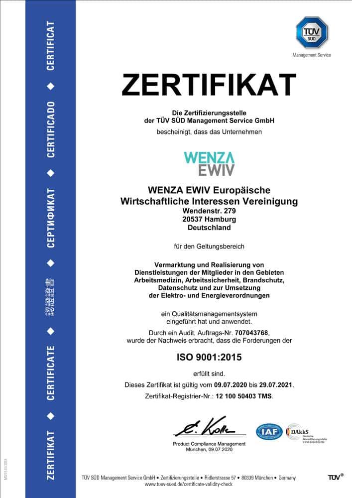 Wenza-TUEV-Zertifikat-2020-Arbeitsmedizin,-Arbeitssicherheit,-Brandschutz,-Datenschutz-und-zur-Umsetzung-der-Elektro--und-Energieverordnungen