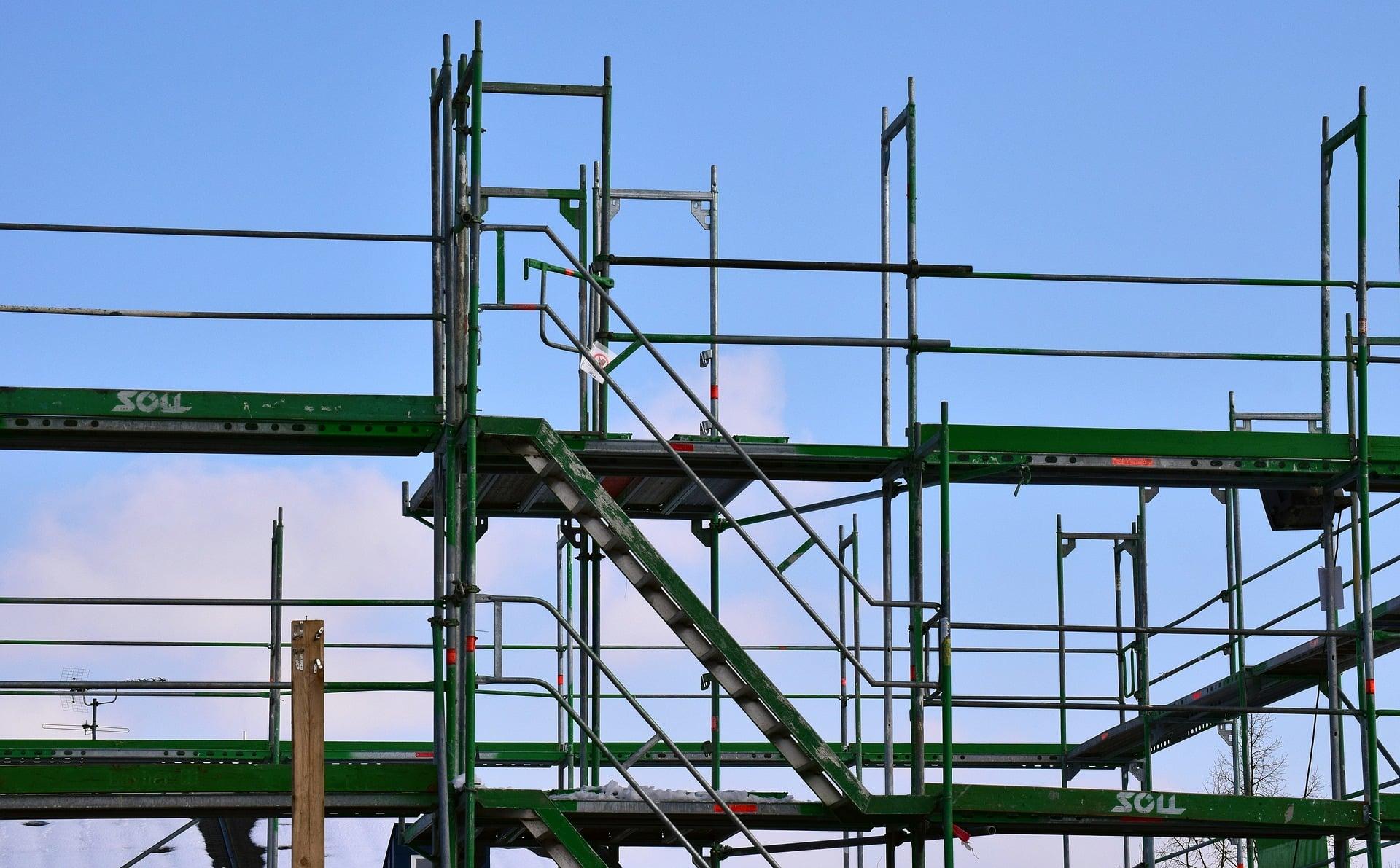 Arbeit auf Leitern