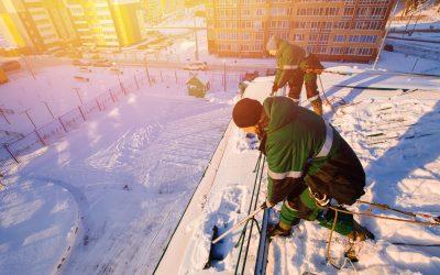 Bauwirtschaft: höheres Unfallrisiko im Winter