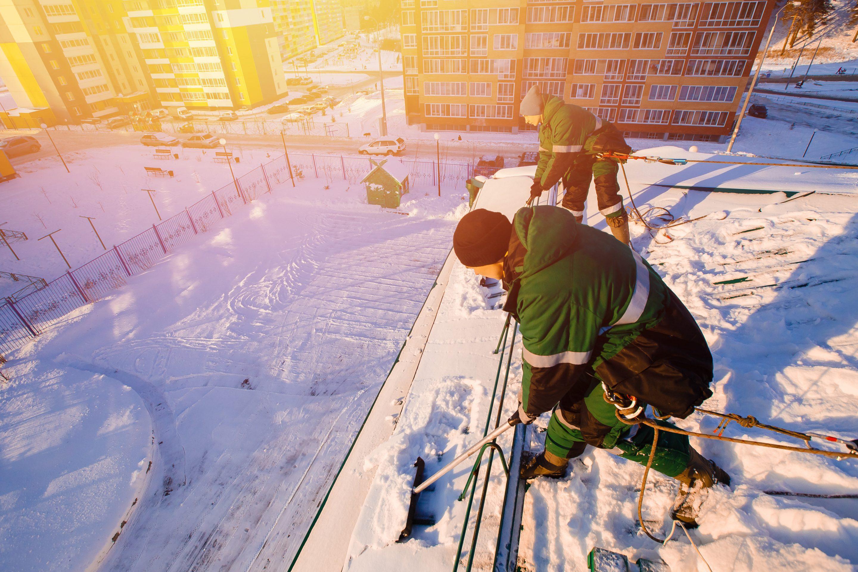 Unfallgefahr in der Bauwirtschaft im Winter