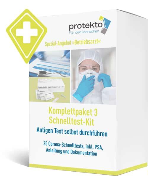 Komplettpaket 3: Corona-Schnelltest-Kit Antigen Test selbst durchführen