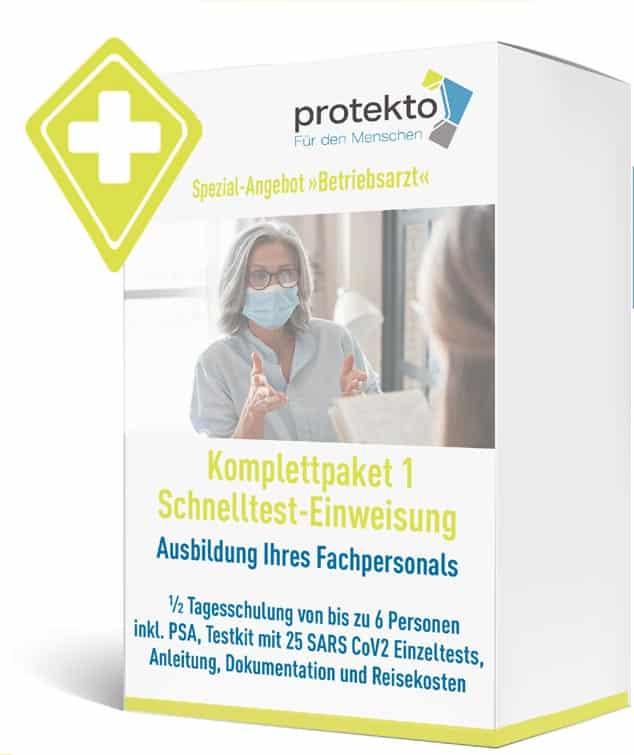 Protekto Spezialangebot Corona Schnelltest Ausbildung Fachpersonal